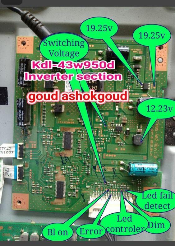 sửa chữa tivi 43w950D
