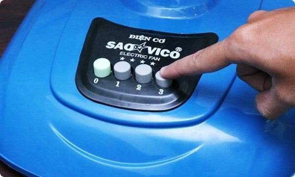 Các nút bấm hoặc công tắc điều chỉnh tốc độ hỏng