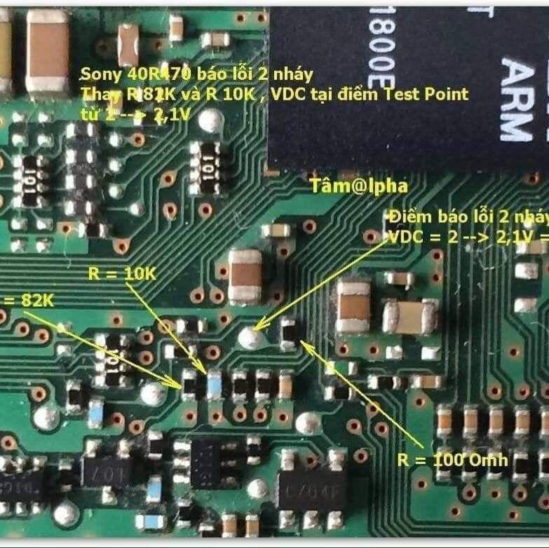 Hình anh hướng dẫn bạn sửa chữa tivi sony nháy đèn đỏ