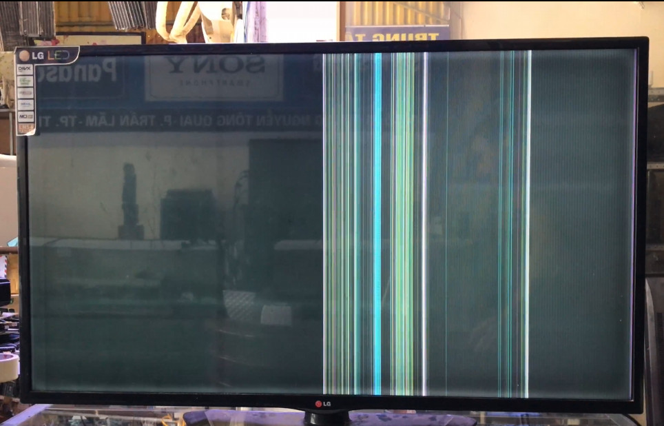 LG LED TV NO DISPLAY & VERTICAL LINES BAR PROBLEM
