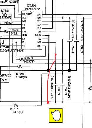 sửa chữa tivi sony nháy 6 nháy đỏ chạy IC BD9397EFV
