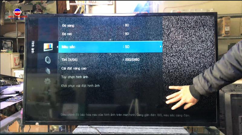 Tại Sao tivi LED, 4k bị tối hình ảnh hoặc một phần hình ảnh bị tối đen.