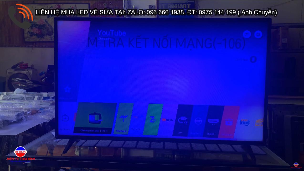 Sửa Chữa Tivi LG 43Lj550T / 43UJ632/ 43LH570 bị nhiễm màu xanh màn hình. Bán led Tivi Chính hãng.
