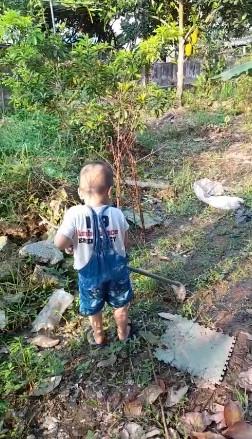 Bé trai dễ thương học làm vườn cùng mẹ một video hay.